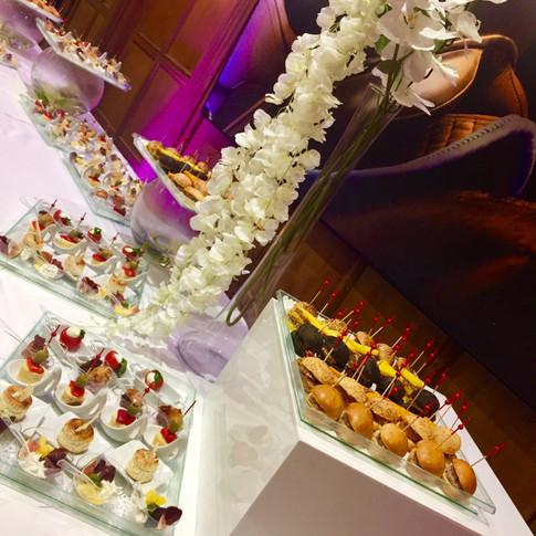Buffet du cocktail dinatoire