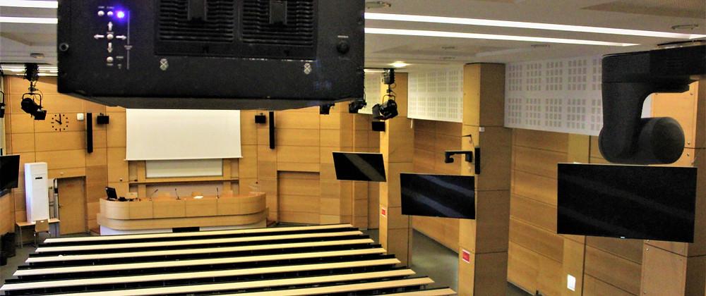 Solution Panasonic pour l'équipement audiovisuel de l'amphithéâtre de Sciences Po