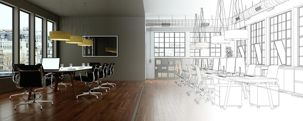Aménagement salle de réunion, table de réunion, chaises de réunion, plan locaux entreprise