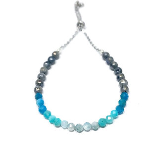 Mystic Aquamarine, Amazonite, Apatite and Mystic Norwegian Moonstone Bracelet