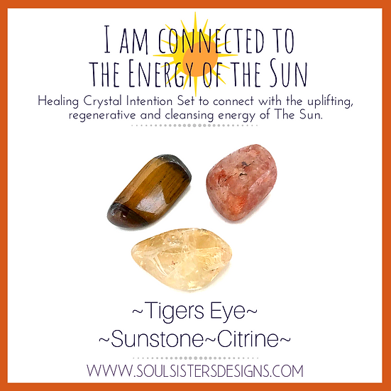 I am Connected to the Energy of the Sun Healing Crystal Intention Set