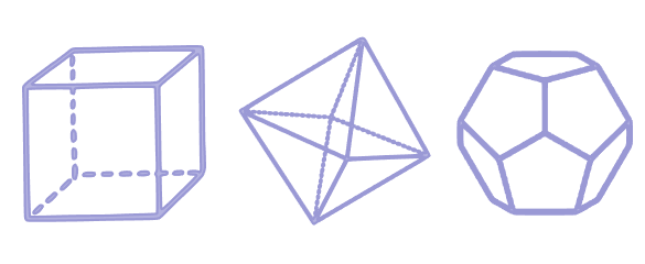 Cube, Octahedron and Dodecahedron
