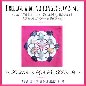 I Release What No Longer Serves Me Crystal Grid Kit