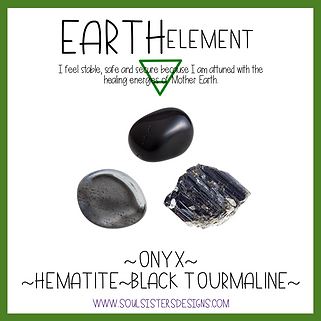 Element Earth Healing Crystal Intention Set