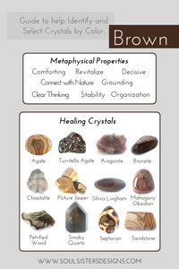Guide to Brown Healing Crystals by Soul Sisters Designs