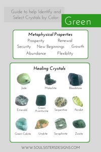 Guide to Green Healing Crystals by Soul Sisters Designs