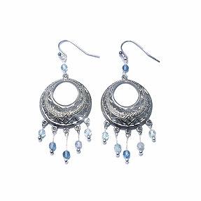 Faceted Fluorite Dangle Earrings
