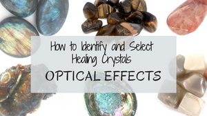 Phenomenal Optical Effects of Healing Crystals