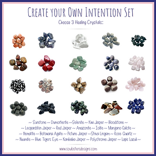 Create Your Own Healing Crystal Intention Set
