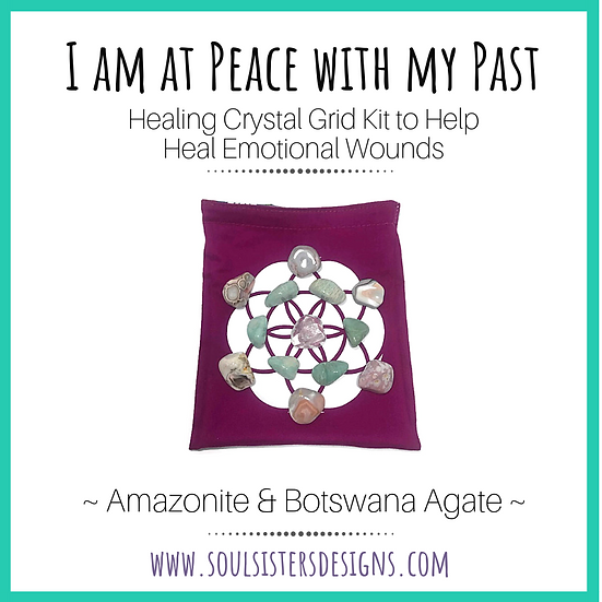 I am at Peace Healing Crystal Grid Kit to Help Heal Emotional Wounds
