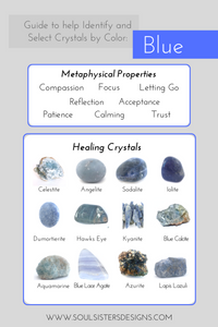 Guide to Blue Healing Crystals by Soul Sisters Designs