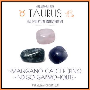 Taurus Healing Crystal Intention Set