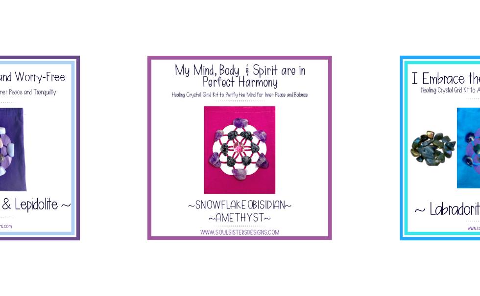 Healing Crystal Sacred Geometry Grid Kits Handmade by Soul Sisters Designs