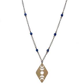 Lapis Lazuli Moon Phase Necklace