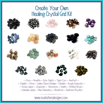 Create Your Own Healing Crystal Grid Kit
