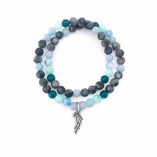 Angelite, Aquamarine, Amazonite, Apatite and Norwegian Moonstone Bracelet