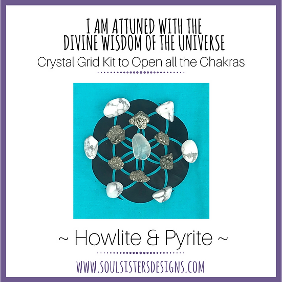 I Am Attuned with the Divine Wisdom of the Universe Healing Crystal Grid Kit