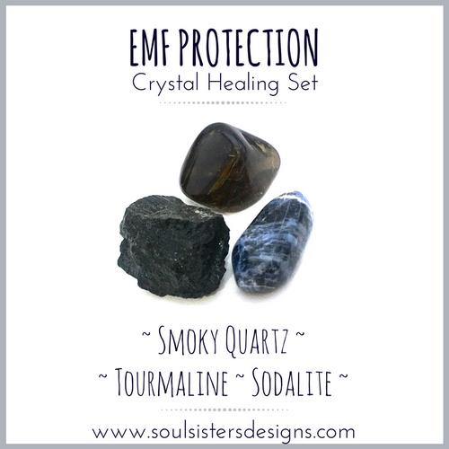 EMF Protection Healing Crystal Set   Soul Sisters Designs
