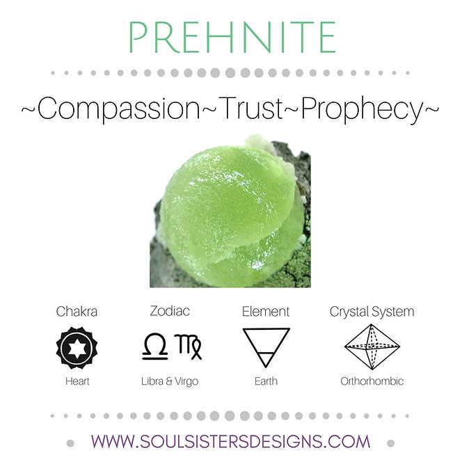 Metaphysical Healing Properties for Prehnite by Soul Sisters Designs