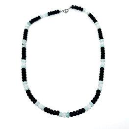 Amazonite, Rainbow Moonstone and Black Onyx Men's Necklace