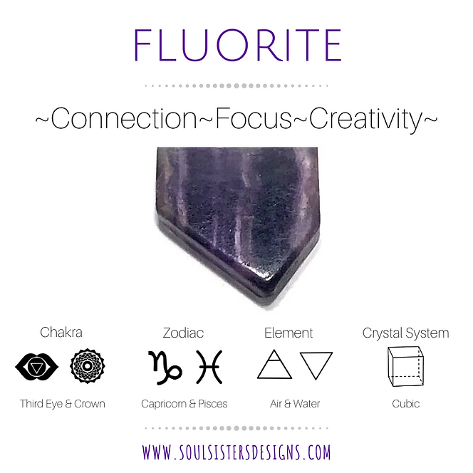 Metaphysical Healing Properties for Fluorite by Soul Sisters Designs