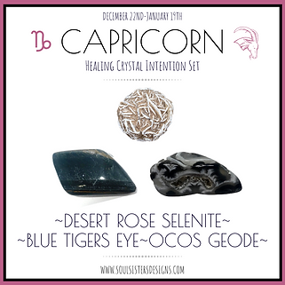 Capricorn Healing Crystal Intention Set