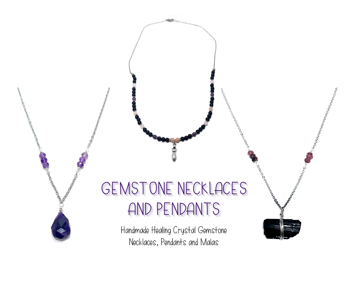 Handmade Healing Crystal Gemstone Neckla