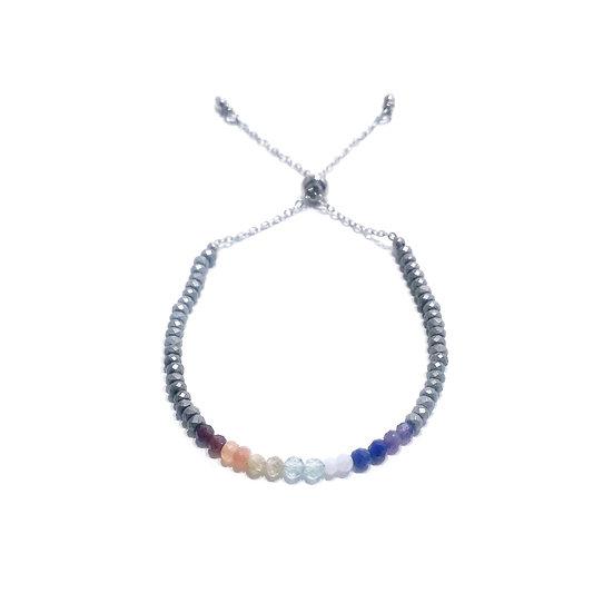 7 Chakra Adjustable Mini Gemstone Bracelet