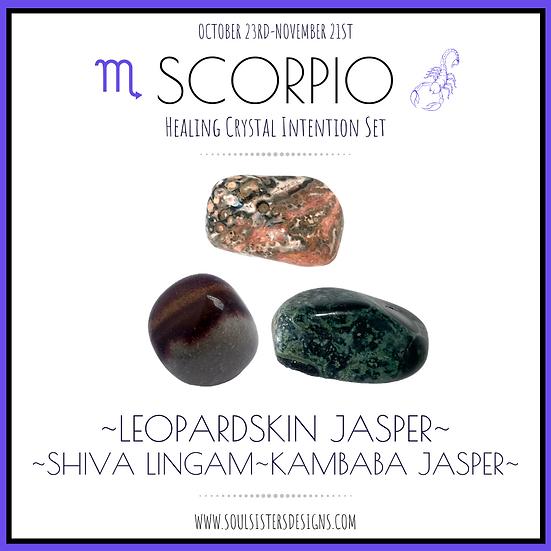 Scorpio Healing Crystal Intention Set