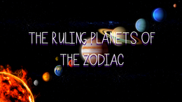 The Ruling Planets of the Zodiac