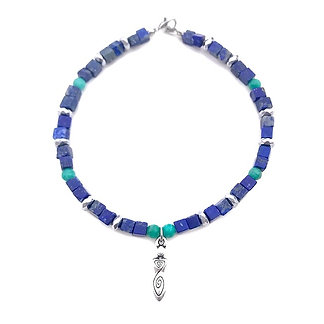 Lapis Lazuli and Russian Amazonite Anklet