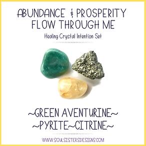 Abundance and Prosperity Flow Through Me Intention Set