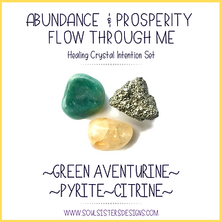 Abundance and Prosperity Flow Through Me Intention Set