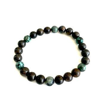 Men's Bronzite and African Turquoise Bracelet