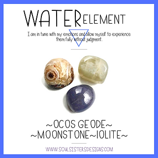 Element Water Healing Crystal Intention Set