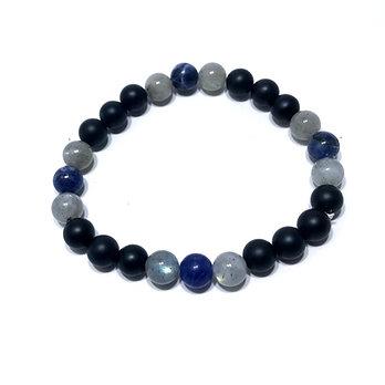 Sodalite, Labradorite and Onyx Bracelet