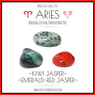 Aries Healing Crystal Intention Set