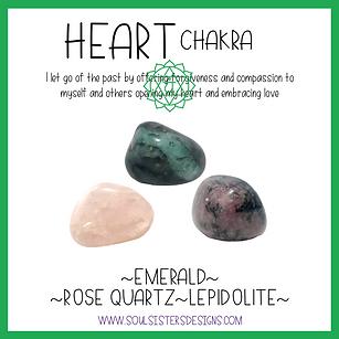 Heart Chakra Healing Crystal Intention Set