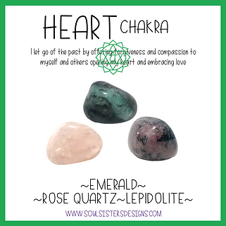 Heart Chakra Healing Crystal Intention Set