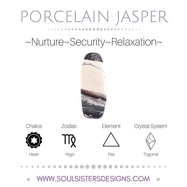 Metaphysical Healing Properties for Porcelain Jasper by Soul Sisters Designs