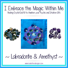 I Embrace the Magic Within Me Healing Crystal Grid Kit
