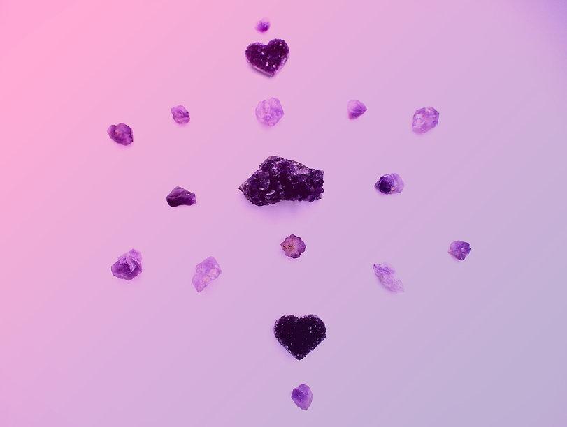 Amethyst Healing Crystal Grid Sacred Geometry by Soul Sisters Designs