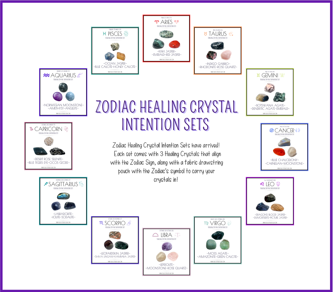 New Zodiac Healing crystal Intention Set
