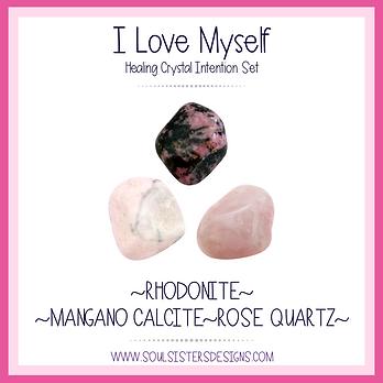 I Love Myself Healing Crystal Intention Set