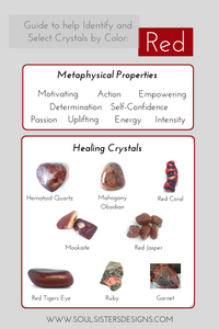 Guide to Red Healing Crystals by Soul Sisters Designs