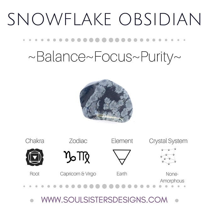 Metaphysical Healing Properties for Snowflake Obsidian by Soul Sisters Designs