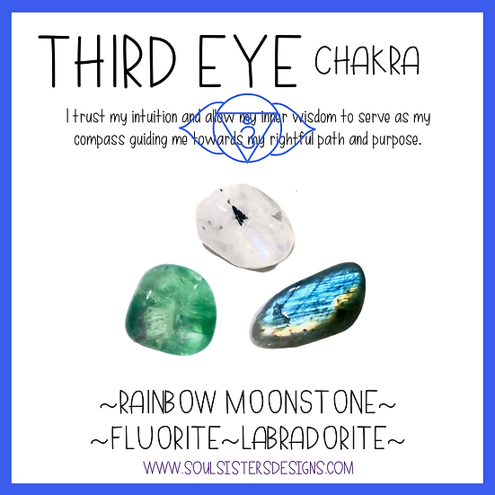 Third Eye Chakra Healing Crystal Intention Set