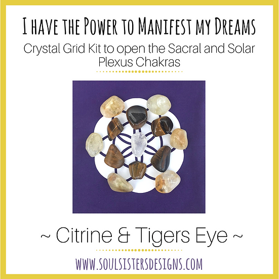 I Have the Power to Manifest My Dreams Healing Crystal Grid Kit