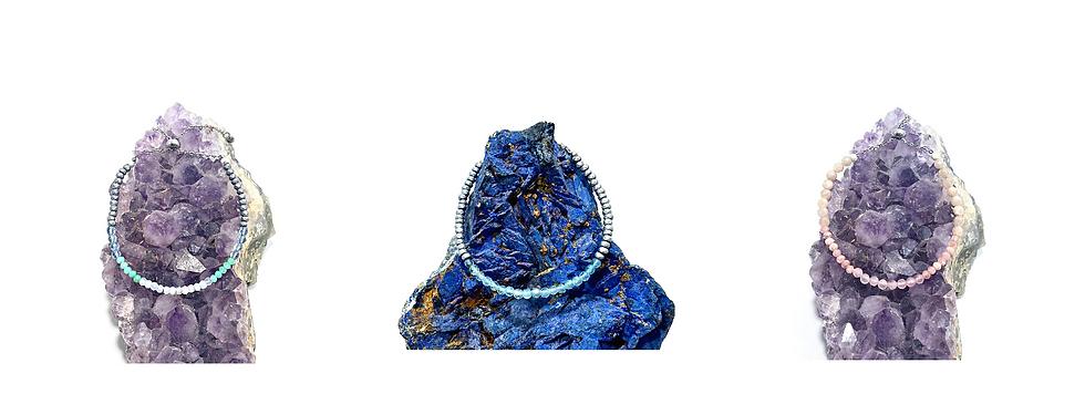 Healing Crystal Adjustable Mini Gemstone Bracelets Handmade by Soul Sisters Designs