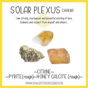 Solar Plexus Chakra Healing Crystal Intention Set